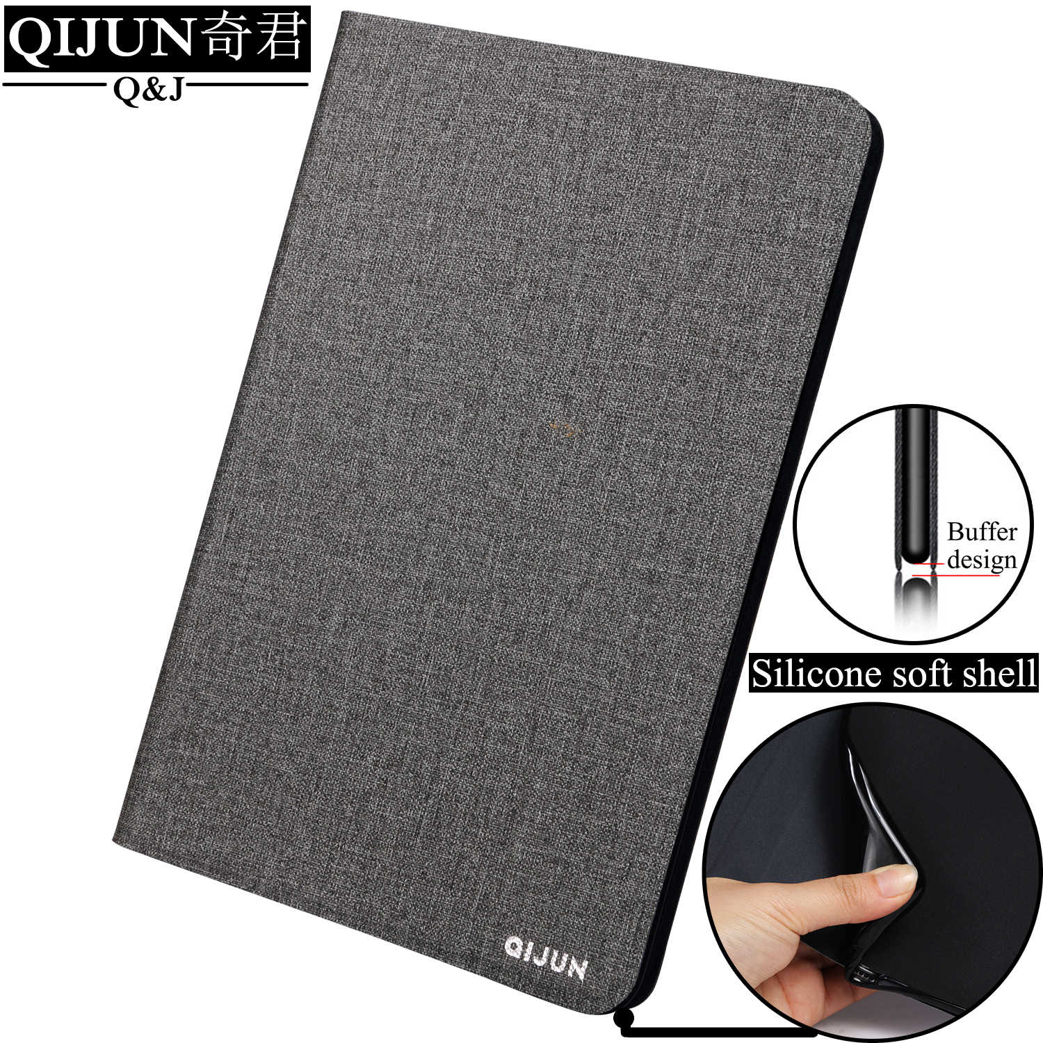 QIJUN tablet flip case for Huawei MediaPad T3 10 9.6-inch fundas protective Silicone soft Shell Stand cover for AGS-W09/L09/LO3