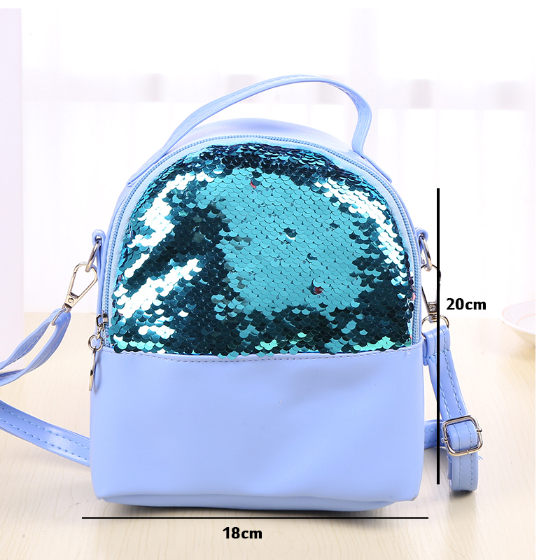 13a0e857acc3 Pls contact us before you leave Neutral or Negative feedback About Women  Mini Backpack Sequins Soft PU Travel Backpacks for kids ...
