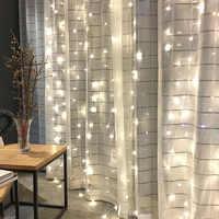 3X3m 300 lámpara LED adornos cortina Año Nuevo luces adornos navideños para el hogar fiesta boda hogar Decoración enfeitas De Natal