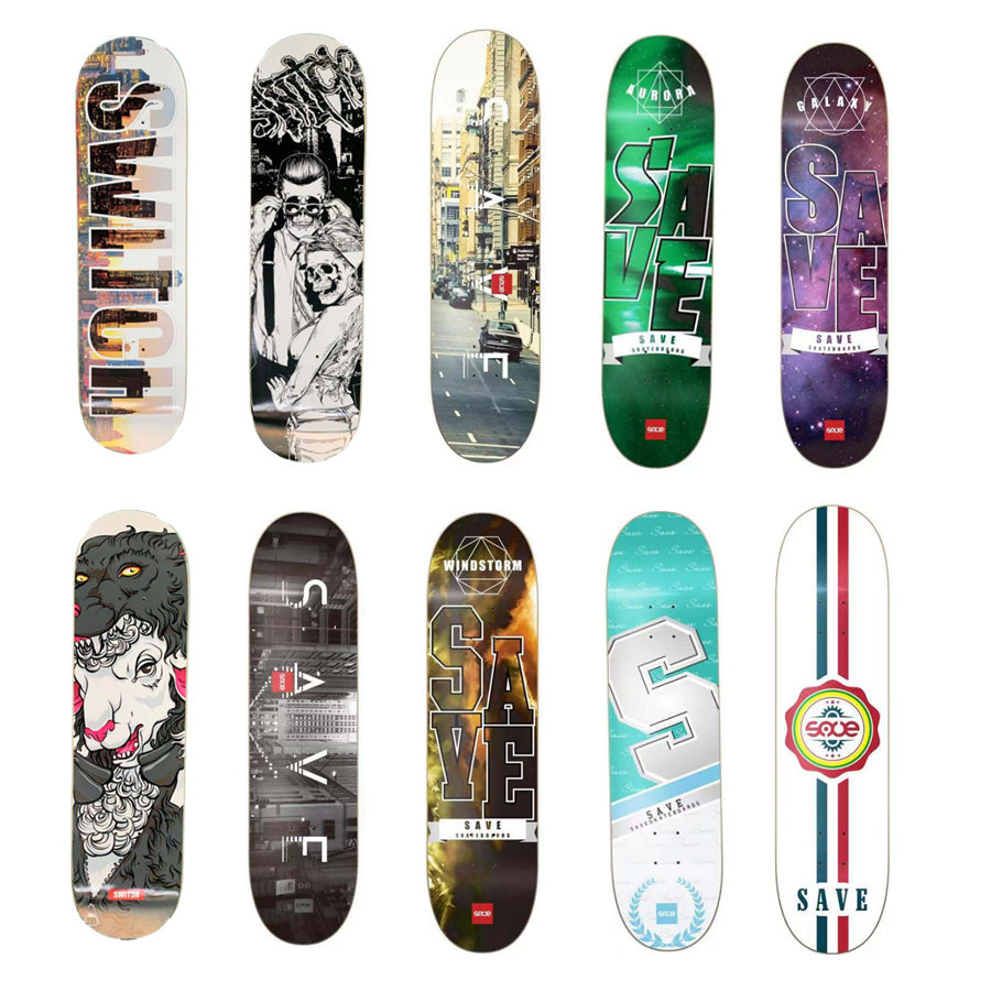 "New SAVE Skateboard Decks 8"" Canadian Maple Shape Skateboarding Deck Skate Patines Street Skate Board"