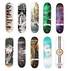 Nuevo salvar Skateboard 8 arce canadiense forma Skate cubierta Skate Patines calle Skate tabla