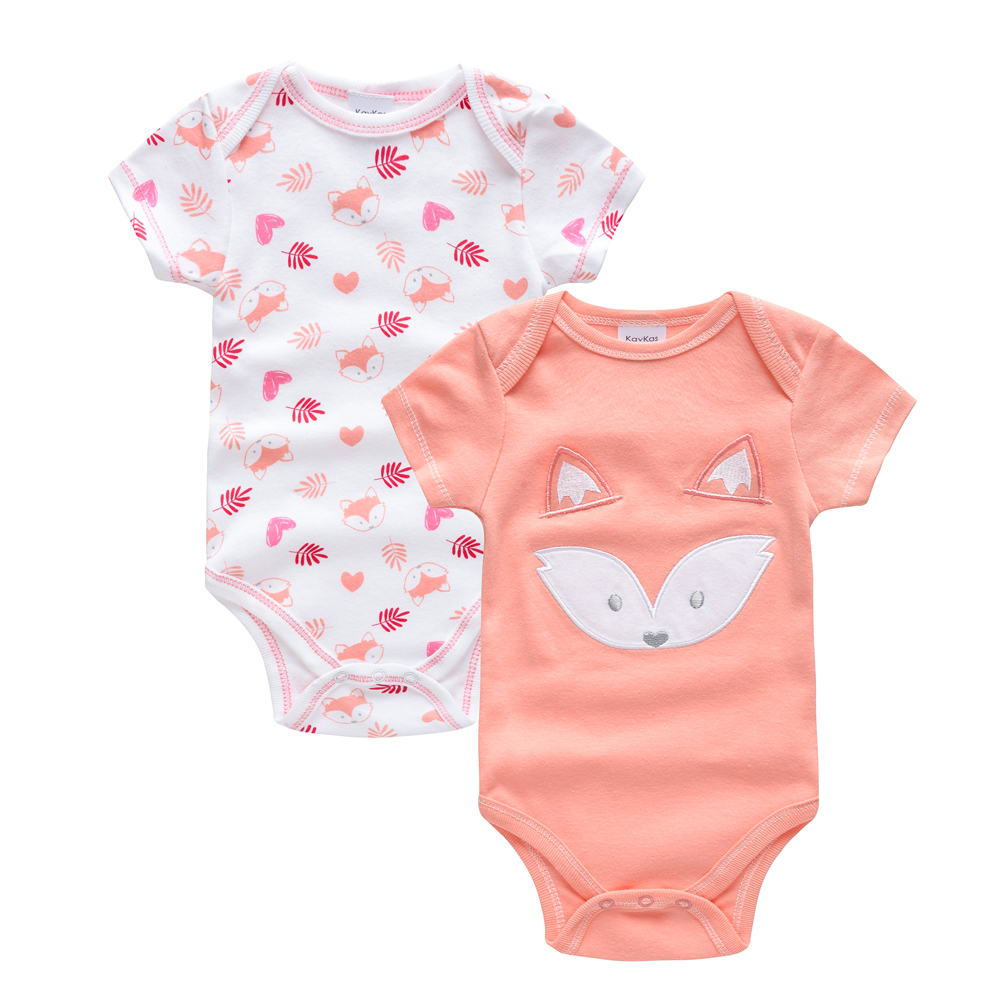 Kavkas Newborn Baby Girl Clothes Fox Design New Year's Costume For Girl Baby Overall   Romper   Christmas Baby Jumpsuit Roupa Infant