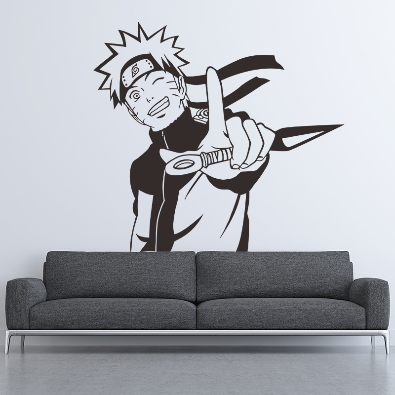 Free shiping diy vinyl home decor stickers Room decoration Naruto cartoon wall stickers bedroom bedside background personality in Wall Stickers from Home Garden