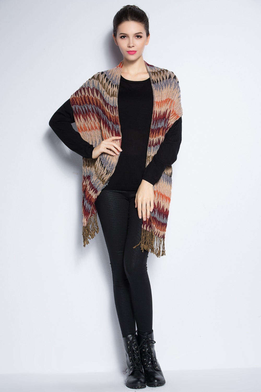 New designer ladies drape scarf Striped women brand luxury echarpe 2016 fashion tassel bandana long winter scarf AR-18