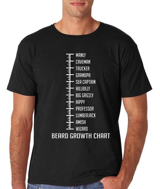 Hot Sell Short Sleeve Fashions Beard Growth Chart Funny Man Beard