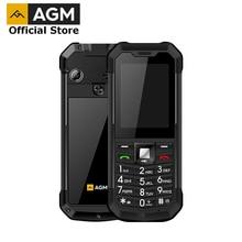 อย่างเป็นทางการ AGM M3 รัสเซีย Dual SIM กลางแจ้ง 2.4 โทรศัพท์ IP68 กันน้ำกันกระแทกไฟฉาย 1970mAh ไฟฉาย