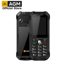 OFFICIAL AGM M3 Russian Rugged Dual SIM Outdoor 2.4 Phone IP68 Waterproof Shockproof Dustproof Torch 1970mAh Flashlight