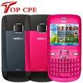 Nokia C3 /C3-00 (новинка 90% года) Оригинальный разблокированный Wi-Fi бар 2 МП синий золотой розовый цвет symbian версия б/у сотовый телефон