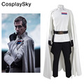 Rogue One A Star Wars Story Director Krennic Cosplay Costume Officer Uniform White Cloak Jacket Black Pants Belt Gloves Holster