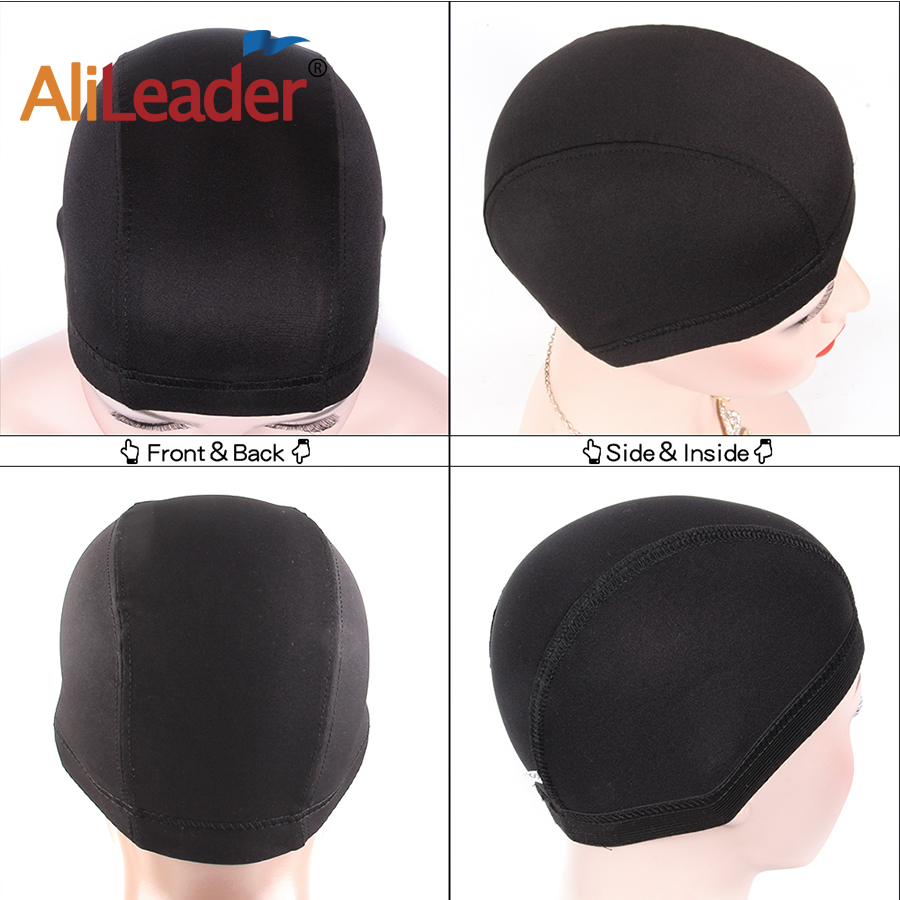AliLeader S/M/L Elastic glueless wig caps for wig making Easier Sew In Hair Stretchable Weaving Cap Glueless Hair Net Wig Liner