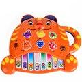 BOHS Tigre Teclado De Piano 0-3 anos de idade Música Som Animal, Versão em inglês, crianças Brinquedos Educativos Bem Embalado