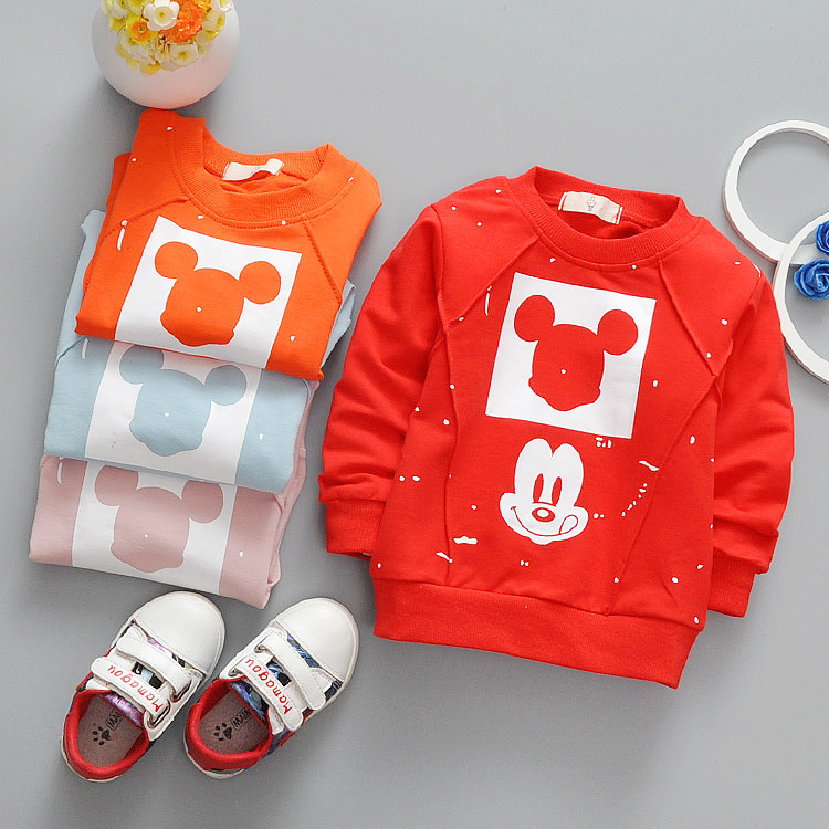 0 24M baby boy girl Mickey t shirts Baby Toddler Kids clothing spring autumn Lovely T