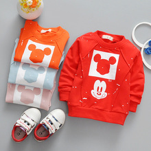 0-24M baby boy girl Mickey t-shirts Baby Toddler Kids clothing spring autumn Lovely T-shirt cute baby cartoon T-shirts