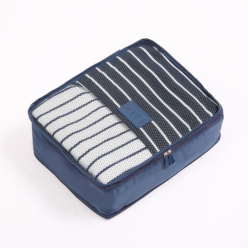 RUPUTIN New 6PCS/Set High Quality Oxford Cloth Ms Travel Mesh Bag In Bag Luggage Organizer Packing Cube Organiser For Clothing