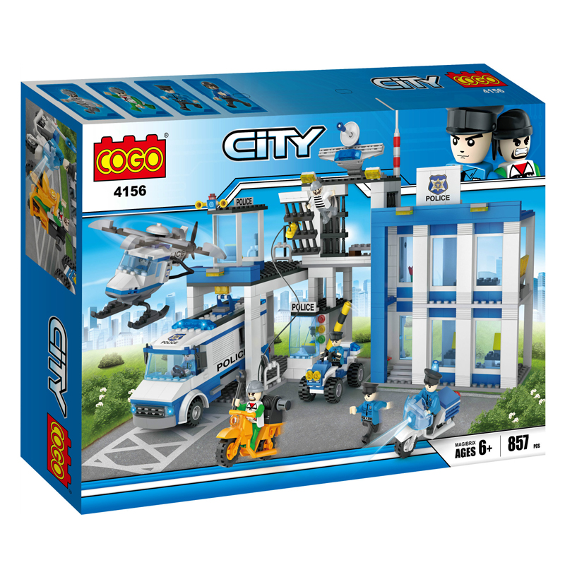New City Series Cogo Model Building blocks Helicopter Car Action Figure DIY Toys Bricks Educational toys for children wisehawk nano blocks darth vader stormtrooper bb8 series action figure diy building bricks creative toys chirstmas gift for kids