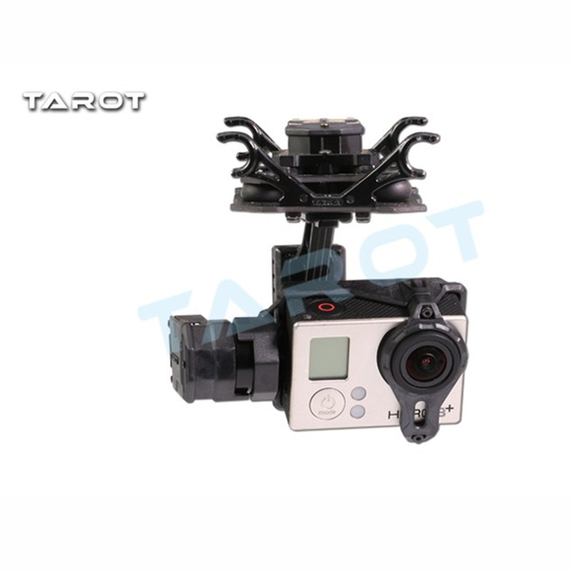 Tarot-RC TL3D02 T4-3D Dual Shock-Absorber Gimbal For Gopro Hero4/3+/3 Double Shock Absorber Gimbal tarot tl100a17 rc parts gimbal shock absorber assembly for 3 axle helicopter camera mount f05232