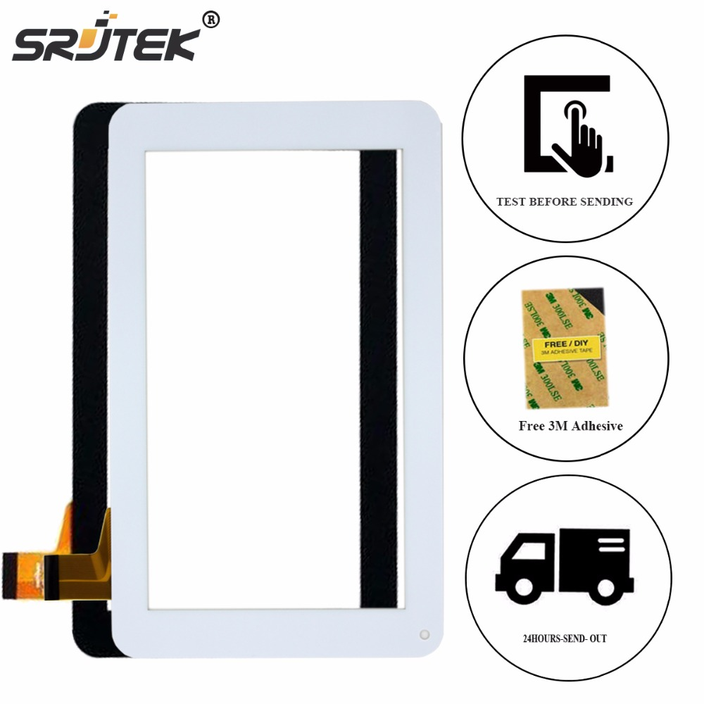 Srjtek 7Touchscreen For QUMO Altair 71 Touch Screen Digitizer Glass Panel Sensor Tablet PC Replacement Parts Black White replacement touch screen digitizer glass for lg p970 black