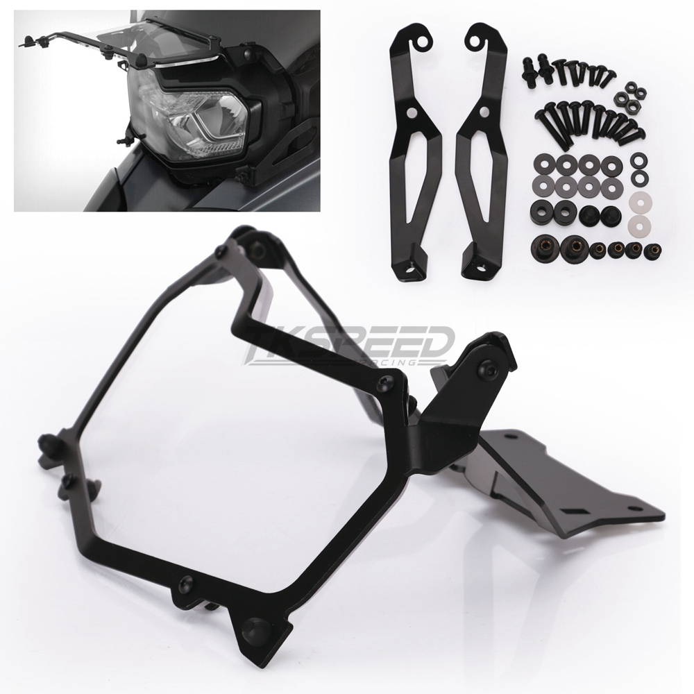 Image 5 - Black Motorcycle Headlight Protection Net Headlight Protection Quick Release Headlight Cover For BMW F850GS F750GS-in Covers & Ornamental Mouldings from Automobiles & Motorcycles