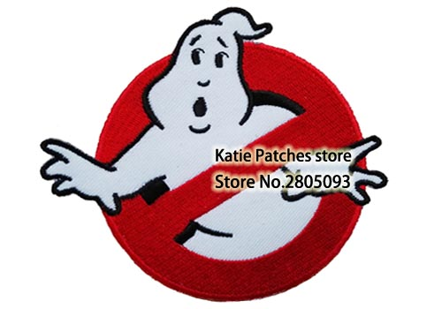 4 Ghostbusters Movie Logo Fabric Clothes Patch Halloween Kids DIY Cartoon Embroidered Clothing Accessories Wholesale
