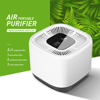 Portable Air Purifier Anion Sterilization Remove Smoke Smell Bacteria 3 layer Filtration System Cleaner Fresher For Home Office