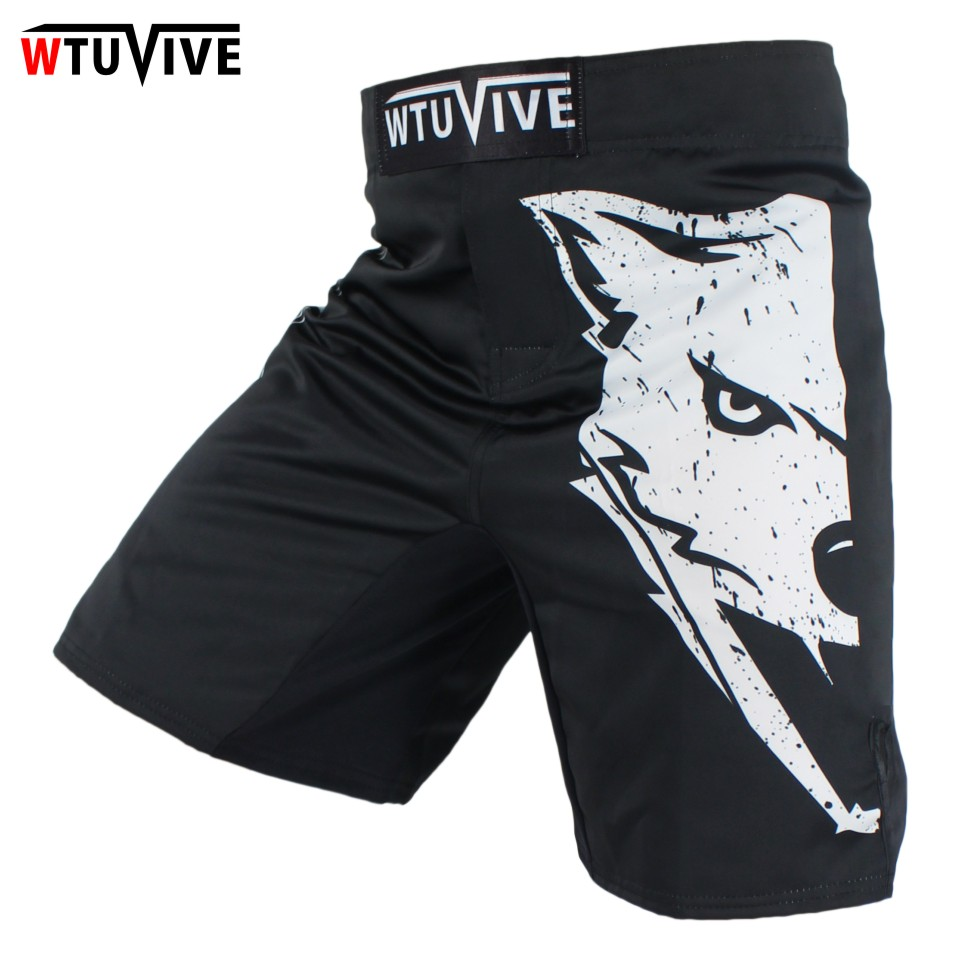 White Mma Tiger Running Boxing Muay Thai Clothing Fighting Shorts Thai Shorts