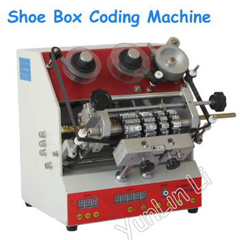 1pc Shoe Box Coding Machine Semi-Automatic Code Printer 110V/220V Coding Printer for Shoe Box Box Coding Machine ZY-RM6 фото