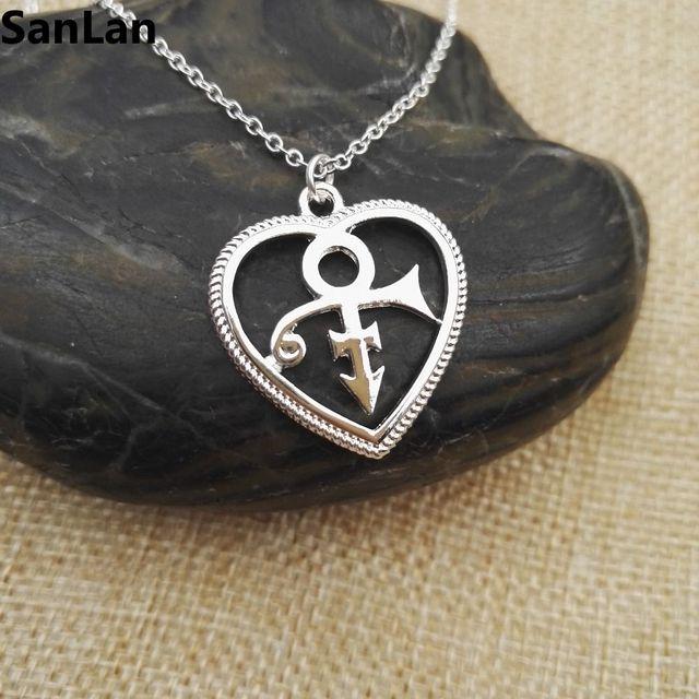 Aliexpress Buy Heart Shape Prince Symbol Pendant Love Symbo