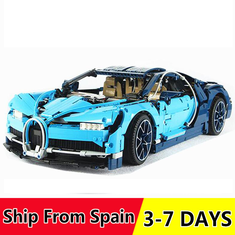 Bricks Car-Building-Blocks Bugattied Technic Race Christmas-Gift Car-Chiron 20001 20086