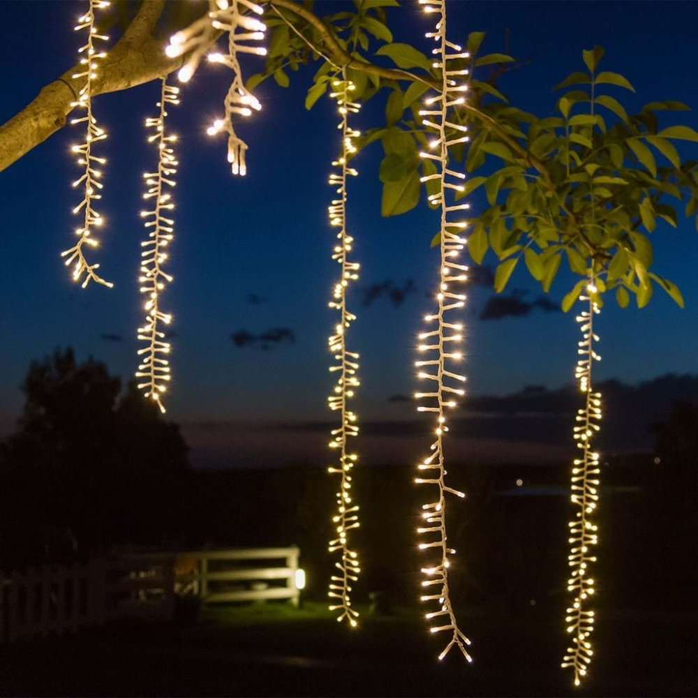 4mx2.5m connectable led string lights Christmas garland led racimos fairy lights outdoor wedding garden party curtain decoration 1