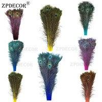 Inch32 ~ 36 80-90 см непосредственно окрашенный Цвет Перья павлина