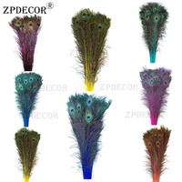 Inch32~36 80 90CM Directly Dyed Color Peacock Feathers