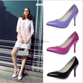 6 Colors 2016 Big Size Women Pumps Sexy Red Bottom Pointed Toe High Heels Shoes Woman Brand New Design Wedding Party Shoes