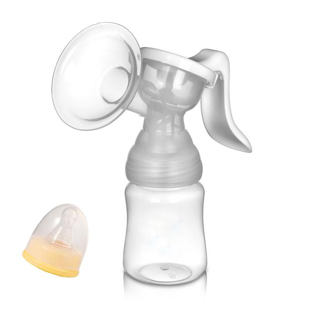 Manual Breast Pump with Feeding Bottle