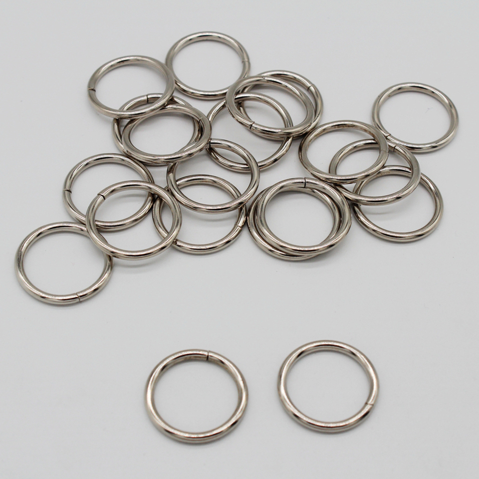 20 Pieces 3//4 Inch Silver Metal O-Ring Connector Non Welded for Straps Purses Bags