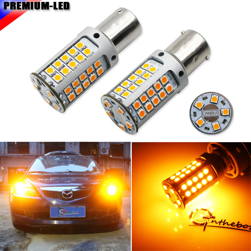 iJDM No Hyper Flash 21W High Power Amber 1156 7506 7528 BA15s P21W  LED Bulbs For Car Front or Rear Turn Signal Lights,CANBUS 2 no resistor no hyper flash 21w high power amber bau15s 7507 py21w 1156py led bulbs for car front or rear turn signal lights