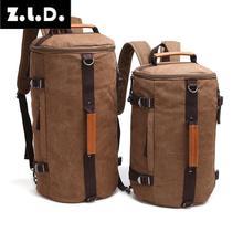 Z.l. D. Большая вместительная сумка-барабан для мужчин и женщин, Холщовая Сумка для компьютера, рюкзак, сумка для багажа, дорожная сумка, большая посылка на выходные