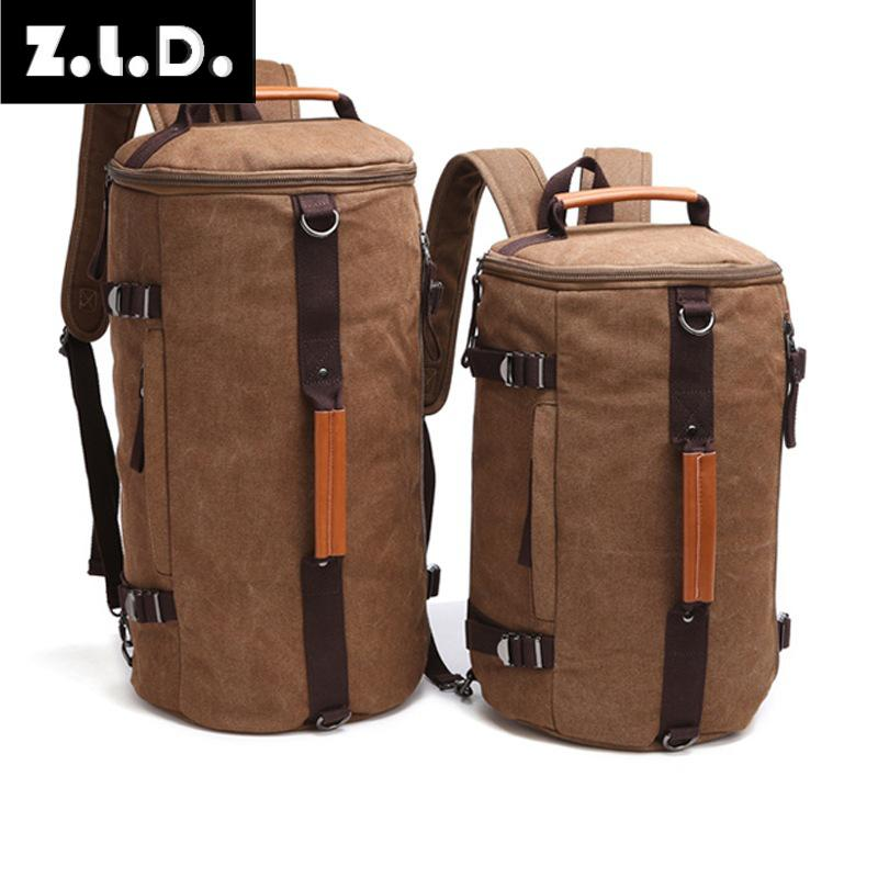 Z.L.D.  large capacity drum bags men and women canvas computer bag backpack bag luggage travel bag large scale weekend package-in Travel Bags from Luggage & Bags on AliExpress - 11.11_Double 11_Singles' Day 1