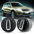 Nova marca OEM Chrome Farol Switch Contorl w/Auto para VW Golf/Jetta MK5 MK6/Eos 2008-2011 VW Scirocco ME3L