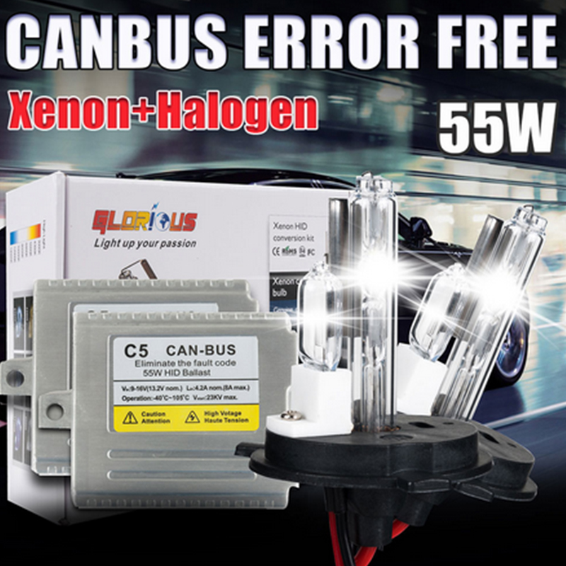HID ksenon işıq dəsti H4, halogen lampa ilə 55W Canbus nazik - Avtomobil işıqları - Fotoqrafiya 4
