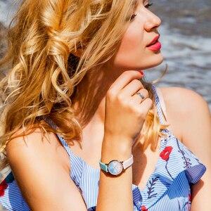 Image 2 - Shengke クリエイティブカラー革腕時計女性レディースクォーツ時計レロジオ Feminino 2019 SK 女性腕時計 Montre ファム # K8029