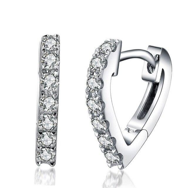 Danki Trendy Earrings for Female Fashion Jewelry CZ Diamond Solid 925 Sterling Silver Clip Earrings Accessory for Wedding Bride