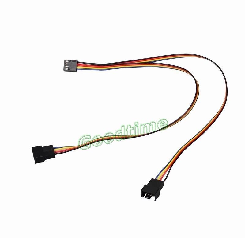 Compatible con Ventiladores de chasis de 3 Pines Cable Divisor de Ventilador de Rendimiento Estable F/ácil instalaci/ón Cable Divisor de Ventilador convertidor 1 a 2