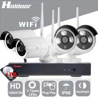 Dingteng 4CH WiFi Wireless Security System 1TB HD 720P Network Camera Wireless Wire IP Camera Waterproof