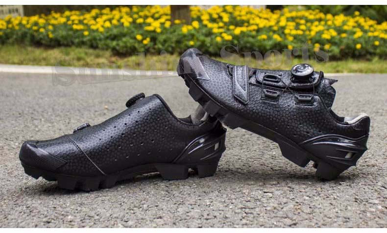Santic Vélo VTT Chaussures Noir AU SOMMET Système De Fixation Standard Seul Imprimé TPU S12025H