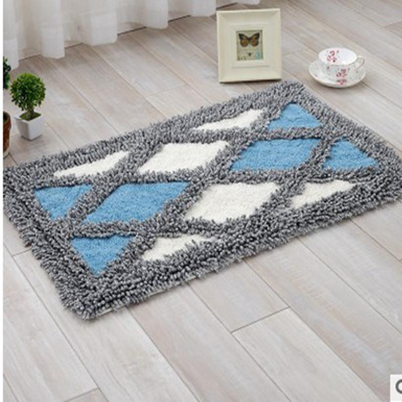 Cotton Chenille Door Mat Soft Absorbent Floor Mats Area Rug Color Quilting Small Carpet For Kitchen