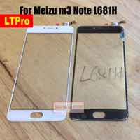 5 5 TOP Quality NEW For Meizu M3 Note L681H Touch Panel Glass Len Screen Digitizer