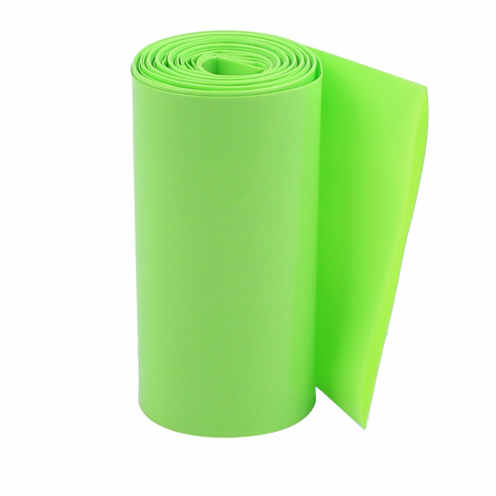 uxcell/® 2M 50mm Dark Green PVC Heat Shrink Tubing Wrap for 2 x 18650 Battery