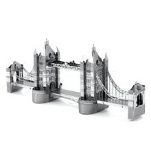 Britain London Tower Bridge Miniature 3D Metal Model Puzzle 3D Model Building Kits 3D Solid Jigsaw