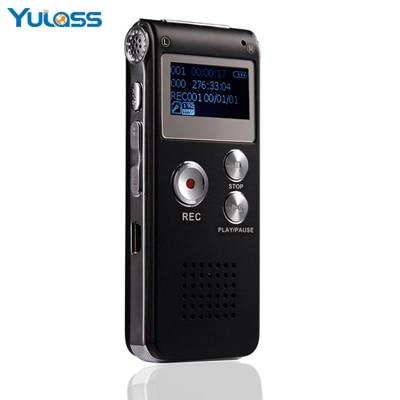 Yulass 4GB font b Digital b font font b Audio b font Voice Recorder HD Black