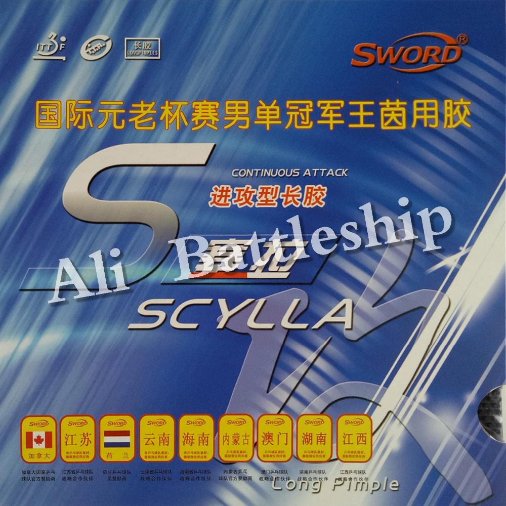 Original Sword SCYLLA Long Pips-out Table Tennis Pingpong Top Sheet Rubber Without Sponge
